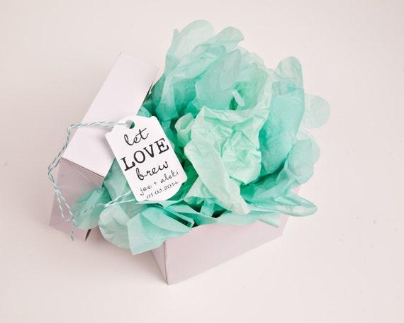 Let love brew custom rubber stamp for DIY custom coffee wedding favors --13019-CB22-000