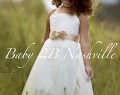 Ivory Lace Chiffon Dress ...