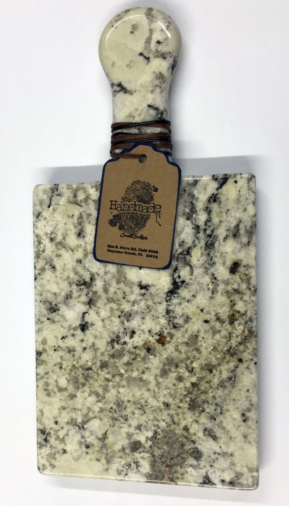 Granite Cheeseboard - Stone Color Caroline Summer #2 - Artisan Crafted Kitchen Accessory Serving Cheese Snack Tray Houseware
