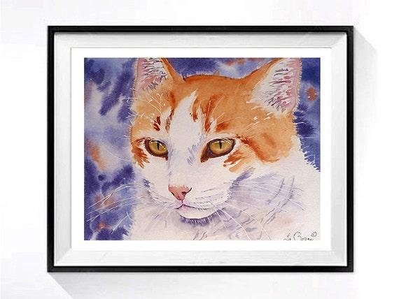 1. Custom Pet Portrait, Pet painting, Custom pet painting, dog portrait, Persian cat portrait, personalized, customized cats