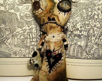 Handmade Art Doll (Voodoo Violetta)