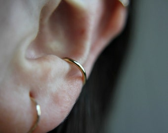 Smooth ear cuff - color choices - minimalist - dainty ear cuff -  no piercing needed