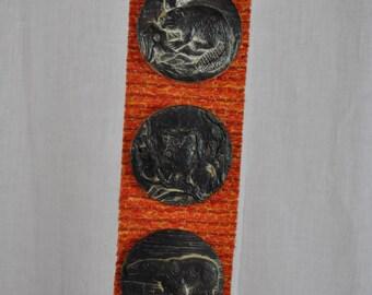 Vintage Canada Souvenir - Medallions of Beaver Owl and Polar Bell