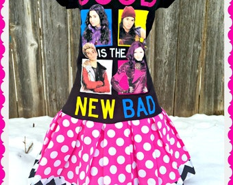 Descendants dress girls size 6/6X and 7/8 ready to ship