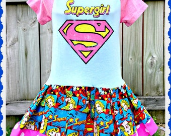 Super Girl dress  2T 3T 4T and 5T ready to ship