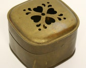 Small Brass Box with Cut Out Heart Design