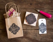 "Custom Hand Carved Rubber Stamp of Your Logo - up to 3"" x 3"" - Perfect for branding marketing packaging labels business cards and more"