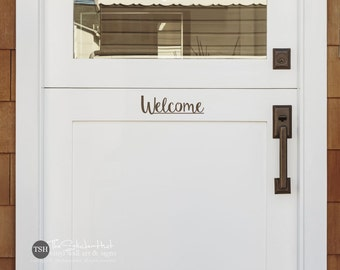 Welcome Decal - Front Door Decal - Vinyl Lettering - Vinyl Decals - Front Porch Decal - Home Decor - Curb Appeal - Vinyl Decal Sticker 1909