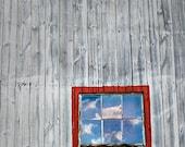 Red Barn Photography, Country Laundry Room Art, Farm Decor, Old Red Barn Print, Window Photography, Rustic Wall Art, Farmhouse Decor, Gray