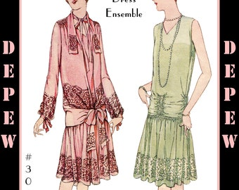 Vintage Sewing Pattern Reproduction Ladies' 1920's Martial et Armand Couture Dress #3063 - INSTANT DOWNLOAD