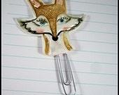 Fox Face Jumbo Planner Clip Bookmark Journal Accessory