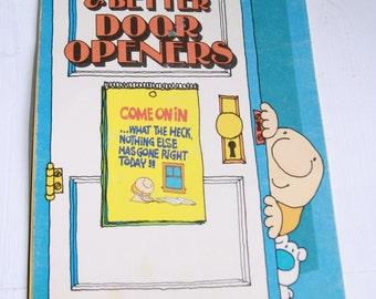 Ziggy's Bigger and Better Door Openers cartoon paper ephemera