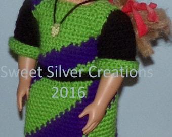 18 inch American Girl Crochet Pattern - Sour Grapes