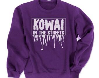 KOWAI not Kawaii Sweatshirt kawaii clothing creepy cute sweater pastel goth sweatshirt gothic lolita clothes cute oversized sweatshirt