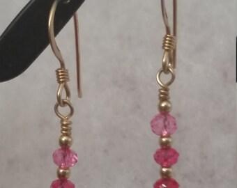 E1074 Pink Sapphire Earrings