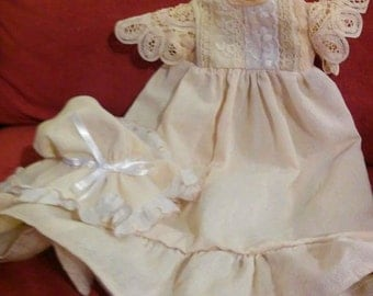 Victorian Heritage Nightgown with Mob Cap
