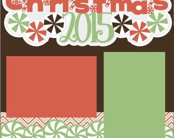 Christmas  2-page 12X12 Scrapbook Page Kit or Premade Layout - You choose Year