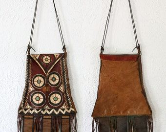 SALE- Vintage African Leather Purse