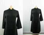 vintage 70s Black Full Length Druid Priest Robe/ Vampire/ Wizard Cosplay LARP or Halloween Costume // Multiple Sizes