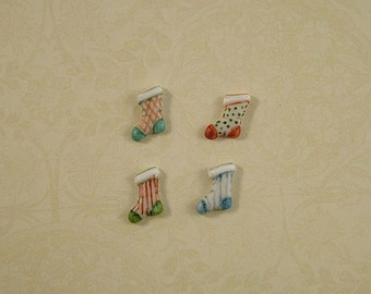 Christmas Stocking Embellishments set of 4
