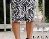 LillyAnnaKids Women's knit pencil skirt LALA Ethnic Aztec Navajo