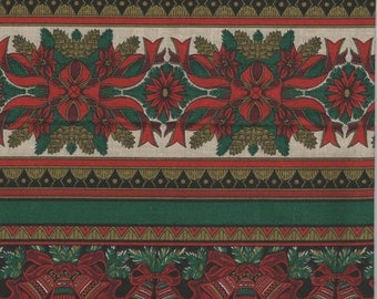 Jinny Beyer Christmas/Holiday Border Fabric - The Colors of Christmas - Fat Quarter