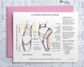 Project Ballet Dancer Pointe Shoe - Blank Architecture Construction Card