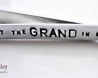 Mens Personalized Tie Bar Clip
