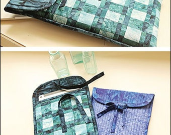 Patchwork ProTECHtor PDF sewing epattern - create a solid or patchwork version of a laptop or tablet sized holder