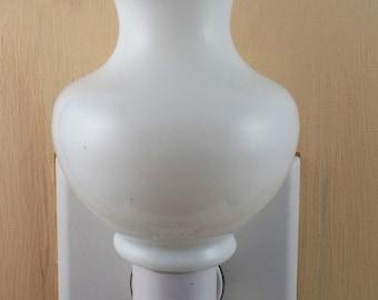 """Tall 4"""" High White Milk  Glass  Vase  Custom Made Night Light"""