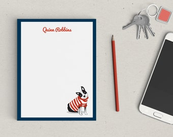 Personalized Notepad Boston Terrier