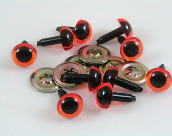 Toy Safety eyes 10mm Amber animal eyes with washers available in packs of 10, 50 or 100 eyes and washers