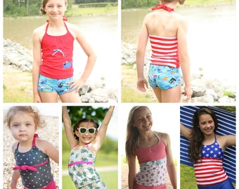 Surfside Tankini sizes 1/2- 16 PDF sewing pattern