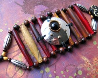 Men's Bracelet - Jewels of the Vagabond-Desert Merchant - bone horn and metal