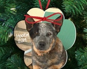 Personalized pet dog or cat photo ornament - paw print photo ornament personalized pet ornament PPPO