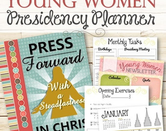2016 YW Presidency Planner - INSTANT DOWNLOAD