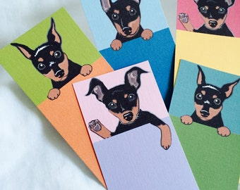 Min Pin Bookmarks - Eco-friendly Set of 5