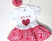 Personalized Onesies for Baby Girl - Baby Girl Tutu Dress - Personalized Baby Clothes -  Personalized Baby Gifts - Baby Girl Birthday Dress