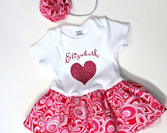 New Mother Gift - Baby Shower - Baby Girl Dress - Mothers Day - Personalized Onesie - Custom - Reborn Doll - Newborn to 24 months