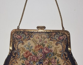 Purse Handbag Antique Tapestry Small Collectible