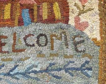Sampler rug hooking pattern