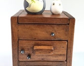 Totoro dolls on TEAK WOOD BOX with drawers 167