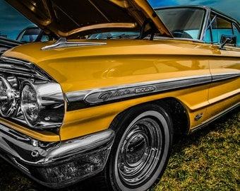 1964 Ford Galaxie 500 Car Photography, Automotive, Auto Dealer, Muscle, Sports Car, Mechanic, Boys Room, Garage, Dealership Art