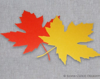 Maple Leaf - Paper Maple Leaves - Maple Leaf Die Cuts - Die Cut Leaf Decorations - Autumn Table Decor - Die Cut Maple Leaves - Leaf Cutouts