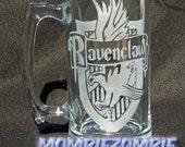 Ravenclaw Etched Stein / Beer Mug Harry Potter Hogwarts house
