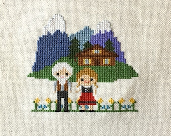 Heidi Cross Stitch Pattern: Novel Inspired PDF Instant Download