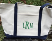 Heavy Weight Custom, Personalized or Monogram Boat Tote Bag