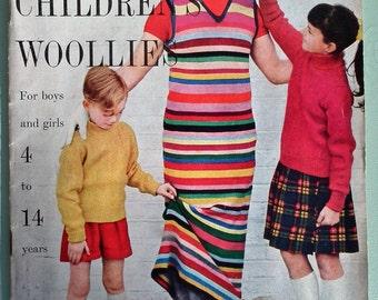VOGUE Knitting Book 50s 60s Vogue Children's Woollies No. 3 UK 1950s 1960s original patterns retro cardigans jackets etc for girls and boys