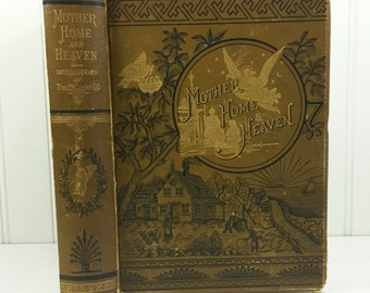 Golden Thoughts on Mother Home & Heaven by Rev Theo Cuyler, 1878 R C Treat Antique Book