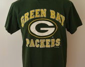 Vintage GREEN BAY PACKERS 1995 t-shirt Logo 7 made in usa size large